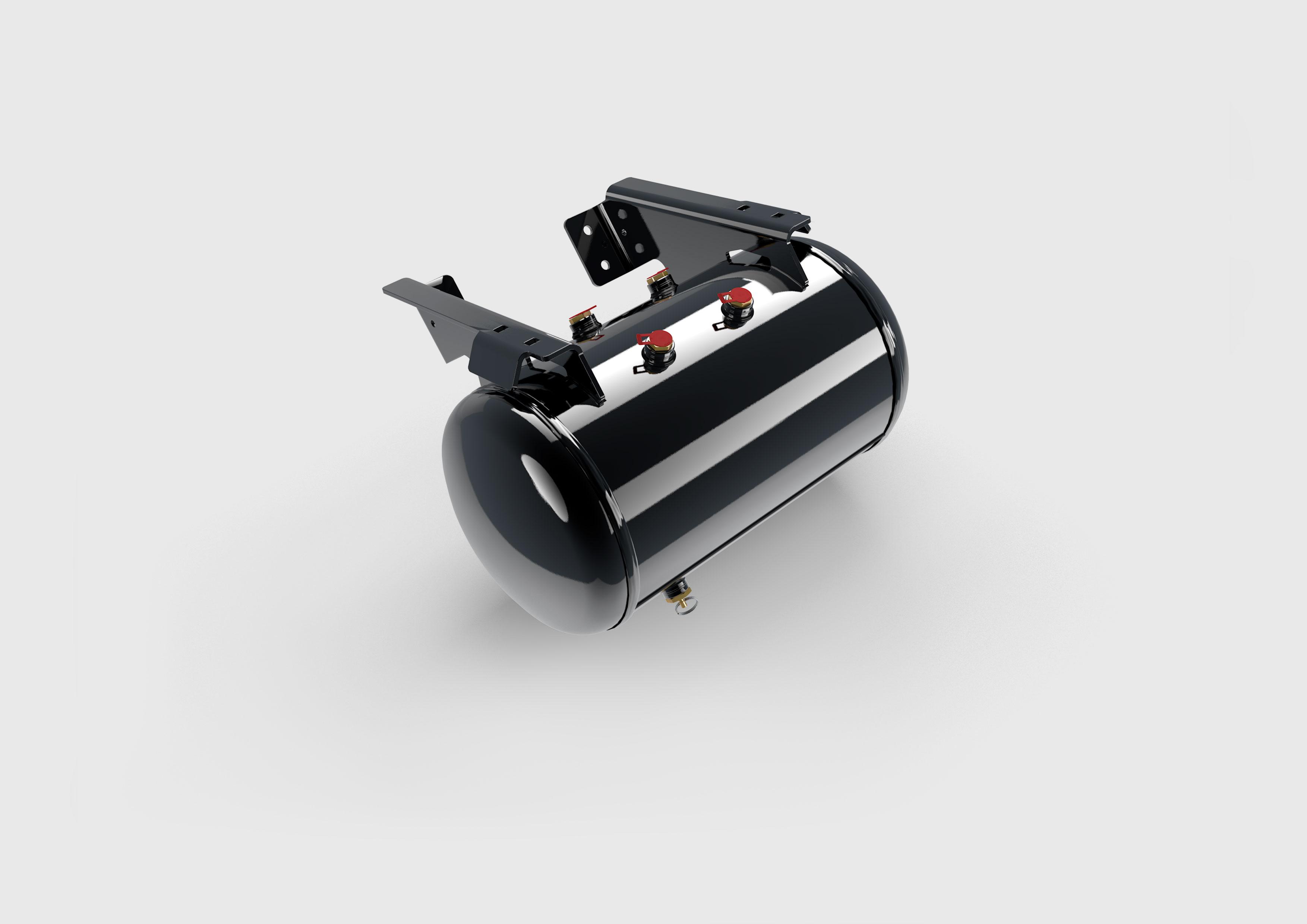 3D Produktvisualisierung Druckluftbehälter aus Stahl