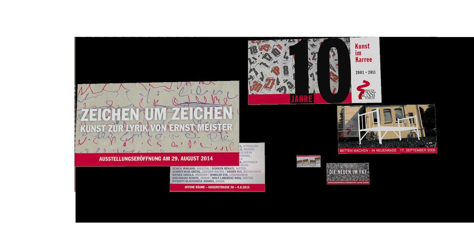 Einladungskarten für Aktionen und Austellungen