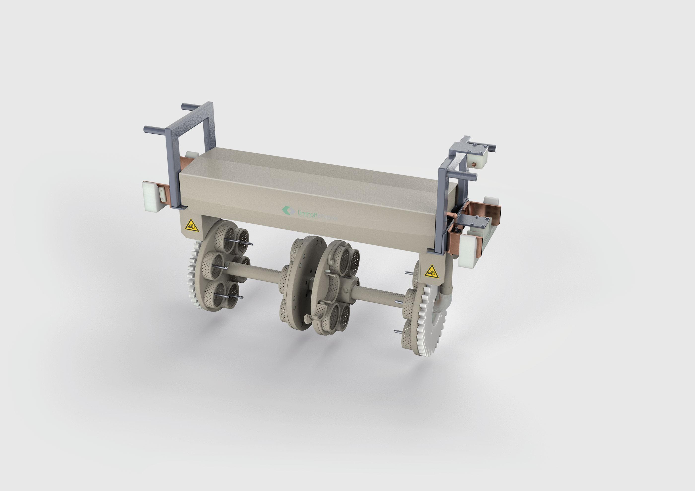 3D Rendering Stangentrommelaggregat