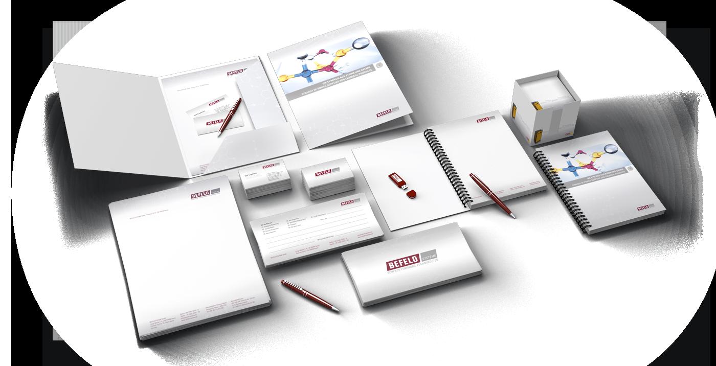 Corporate-Design Entwicklung für die Befeld-Systeme GmbH aus Hamm