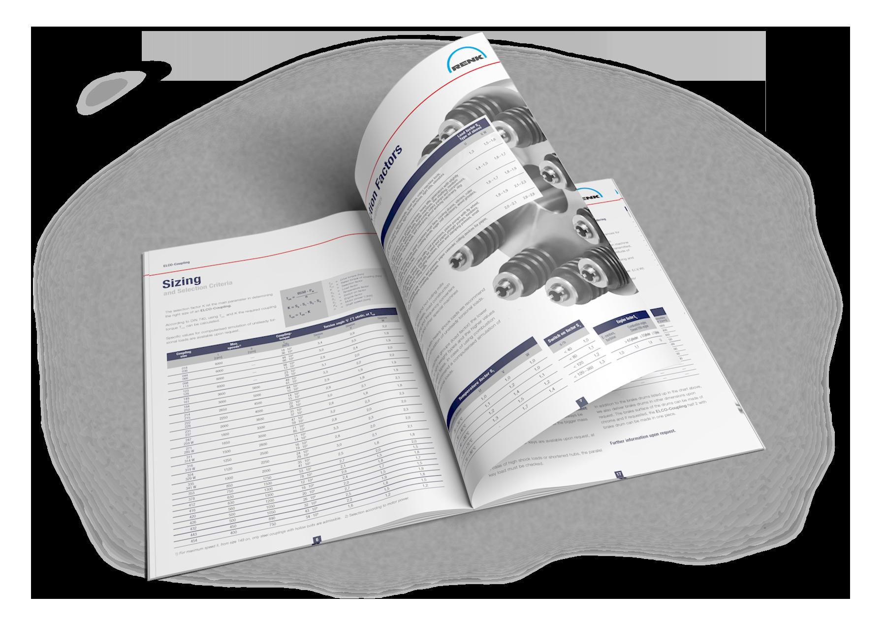 Detailansicht Produktbroschüre RENK Ag Hannover