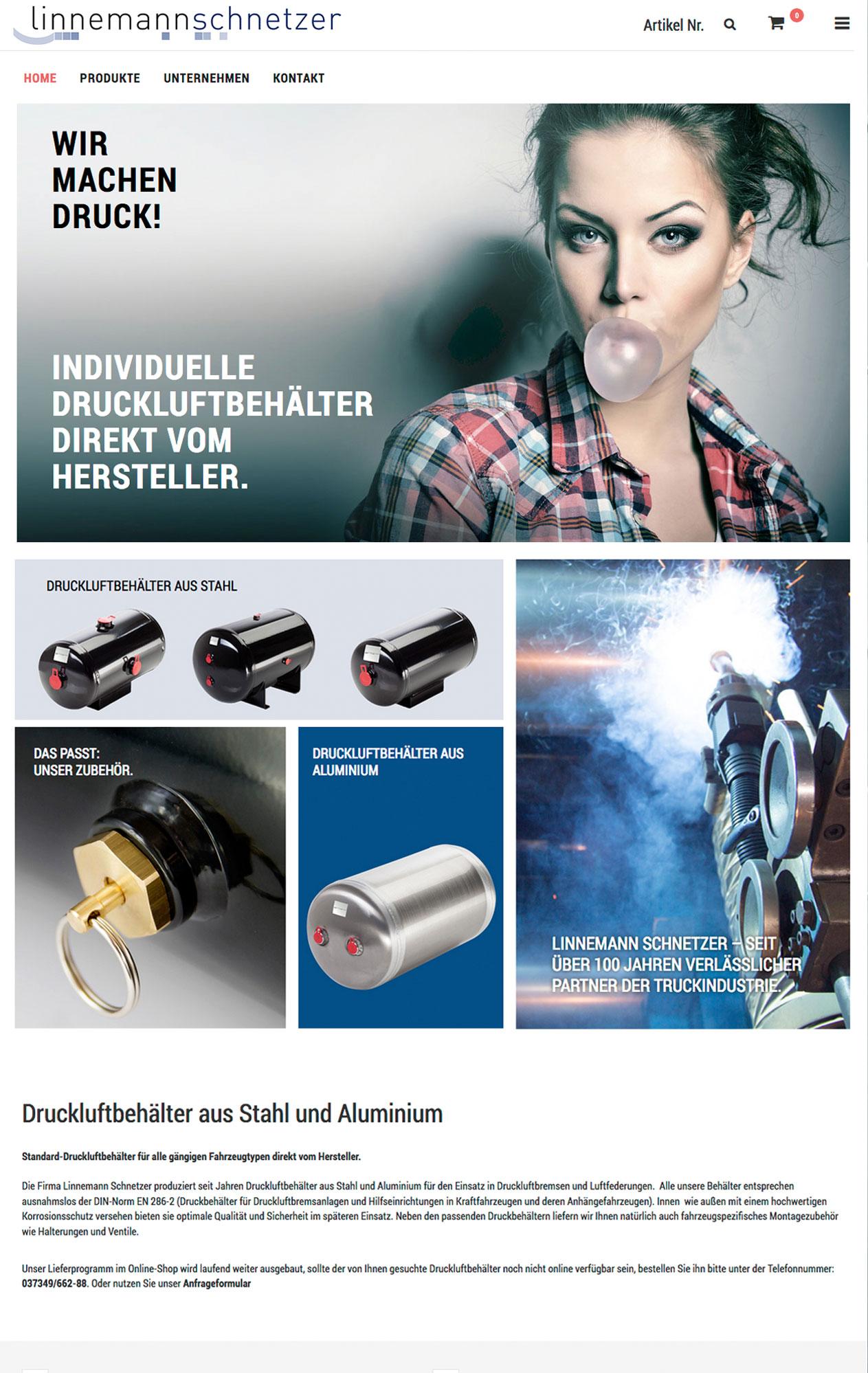 Onlineshop für Druckluftbehälter