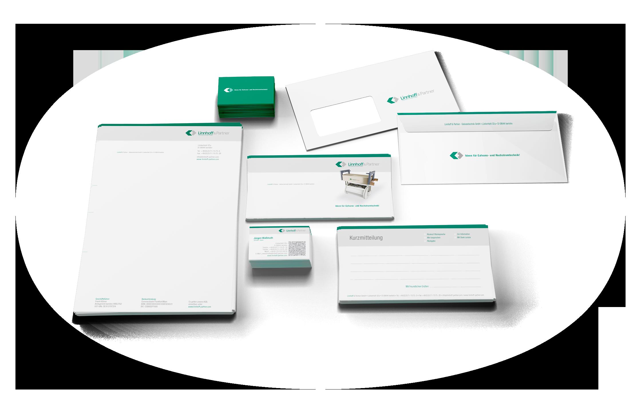 Corporate-Design für die Linnhoff-Parter GmbH aus Iserlohn