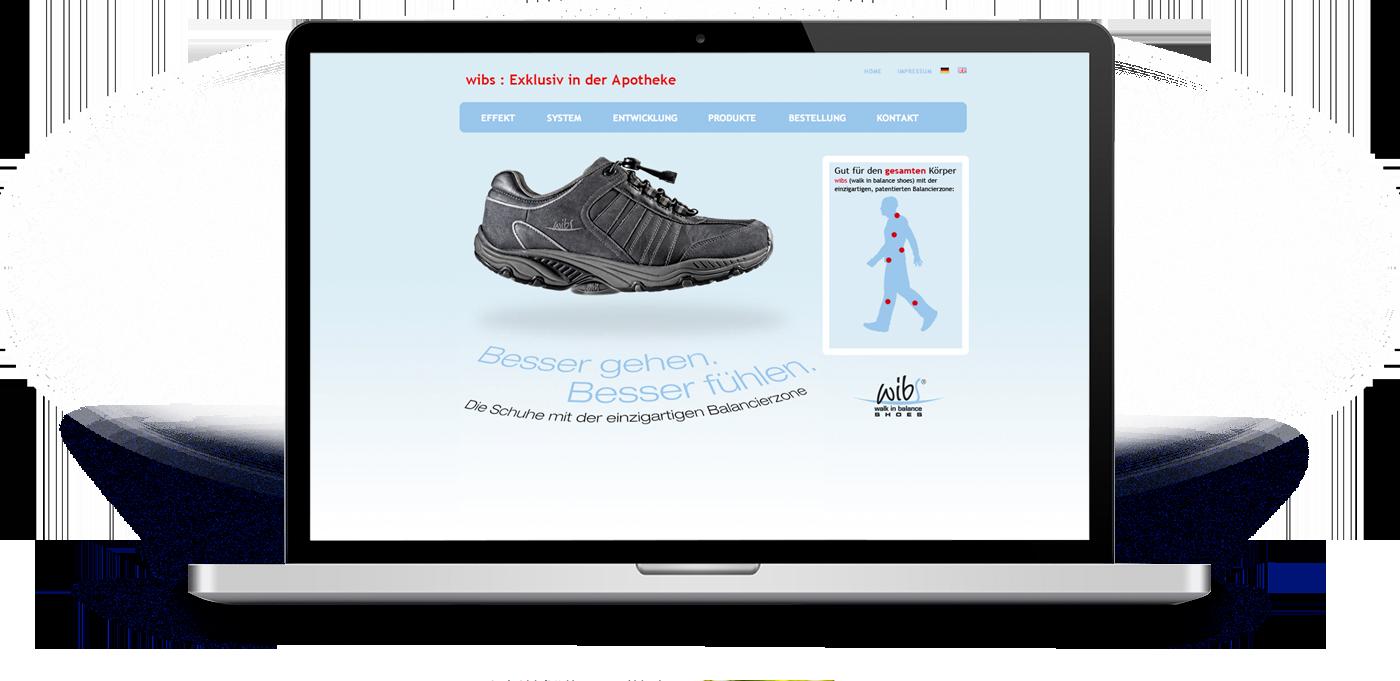 Website für die Eigenmarke Wibs der Tendenza GmbH