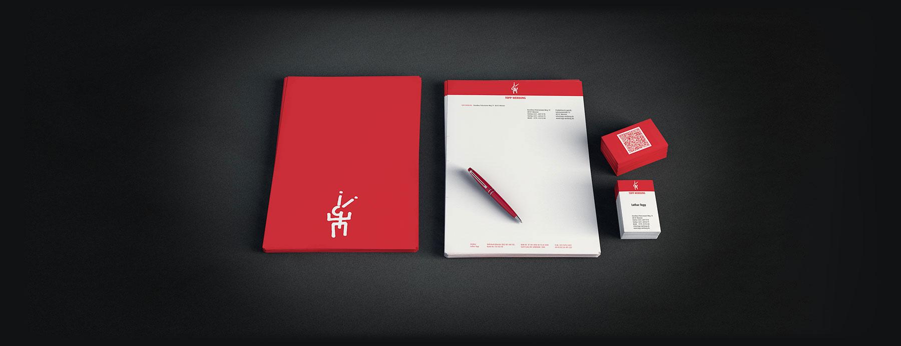 Briefpapier und Visitenkarten Für Topp Werbung aus Münster