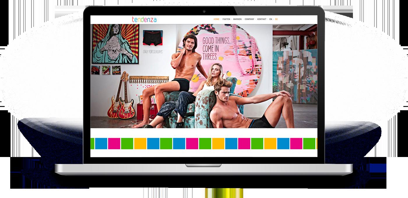 Website für die Tendenza GmbH Ahlen