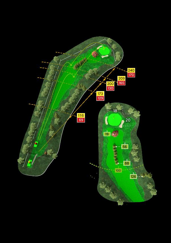 3D-Rendering Bahn 1 des Golf Club Werl e. V.