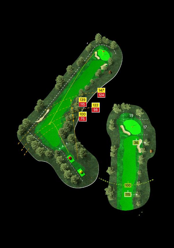 Die Bahn 3 des Golf Clubs in Werl als 3D-Rendering