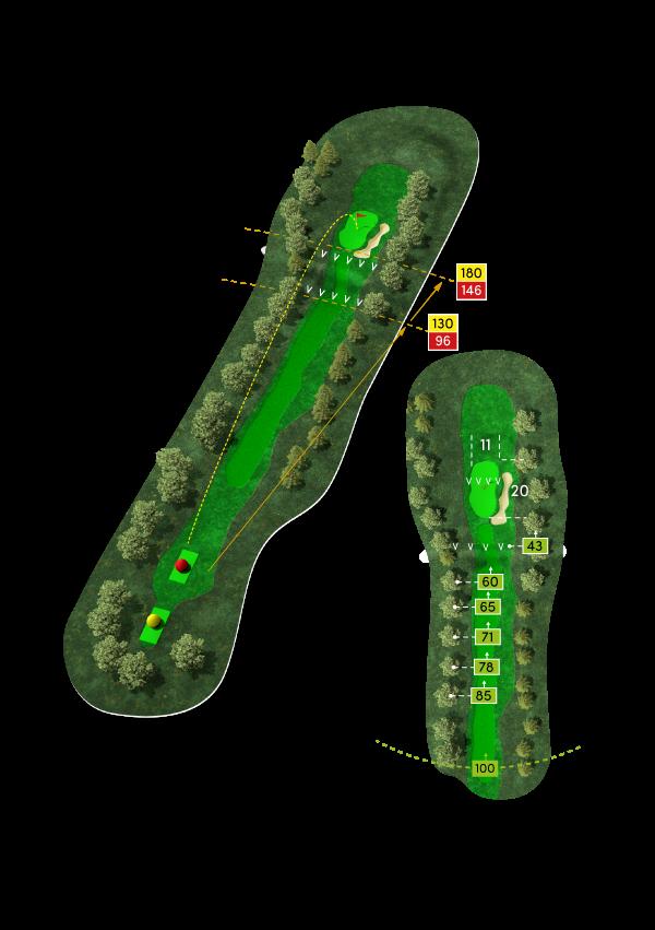 3D-Rendering der 7. Bahn des Golf Club Werl e. V.