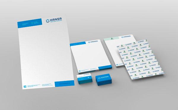 Corporate Design und Logo Entwicklung für Hansa Kältetechnik aus Werl