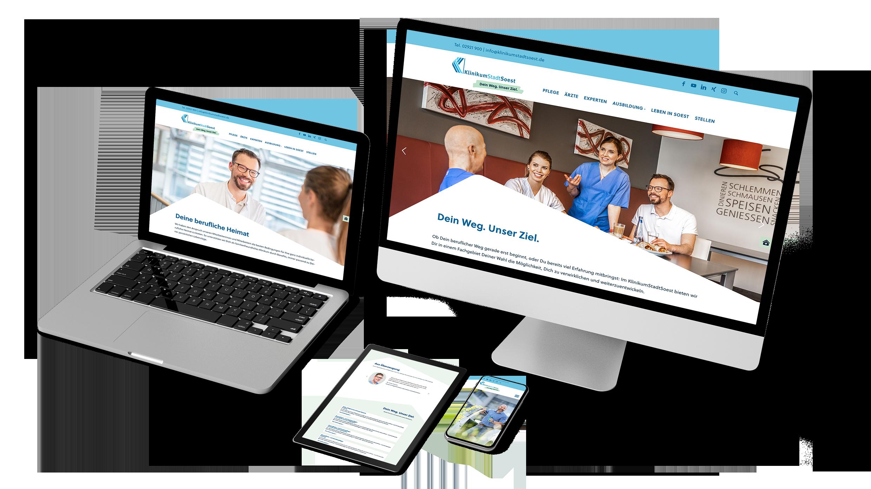 Karrierewebsite für das Klinikum Stadt Soest