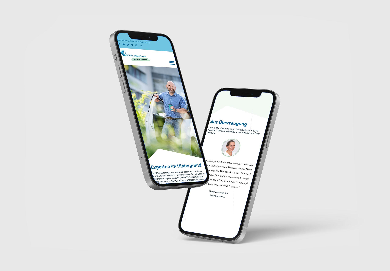 Mobilversion der Karrierewebsite des Klinikums Soest